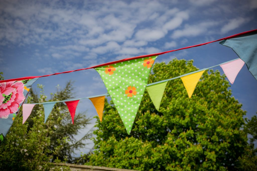 Photo of bunting in the summer