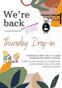 Thursday drop-in advert